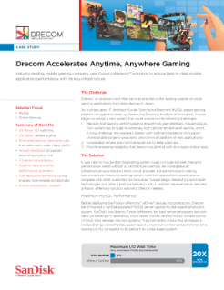 Drecom Accelerates Anytime, Anywhere Gaming