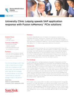 University Clinic Leipzig speeds SAP application response with Fusion ioMemory PCIe solutions