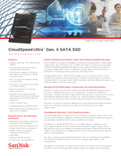CloudSpeed Ultra™ Gen. II SATA SSD