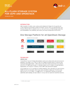 All-Flash Storage System for Ceph and OpenStack