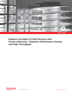 Enhance ArcSight ESM Security with HP IO Accelerators